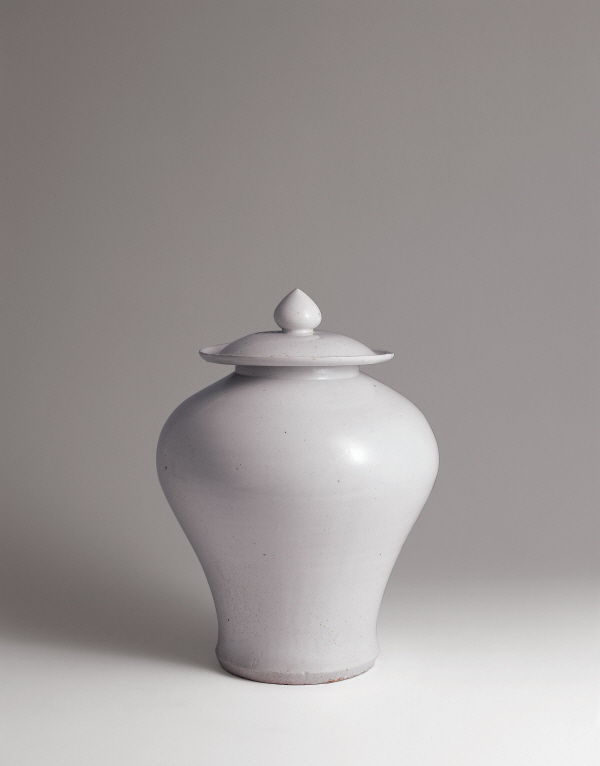 White Porcelain Lidded Jar