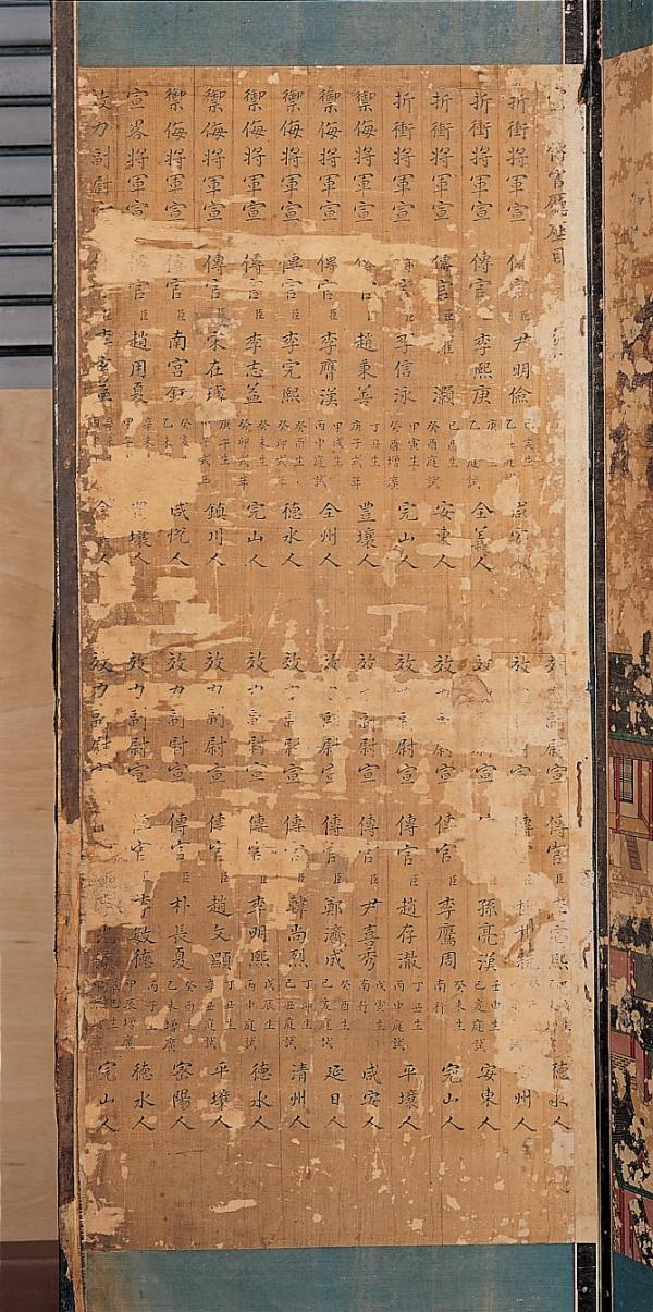 Folding Screen of Heonjong Garye Jinhado