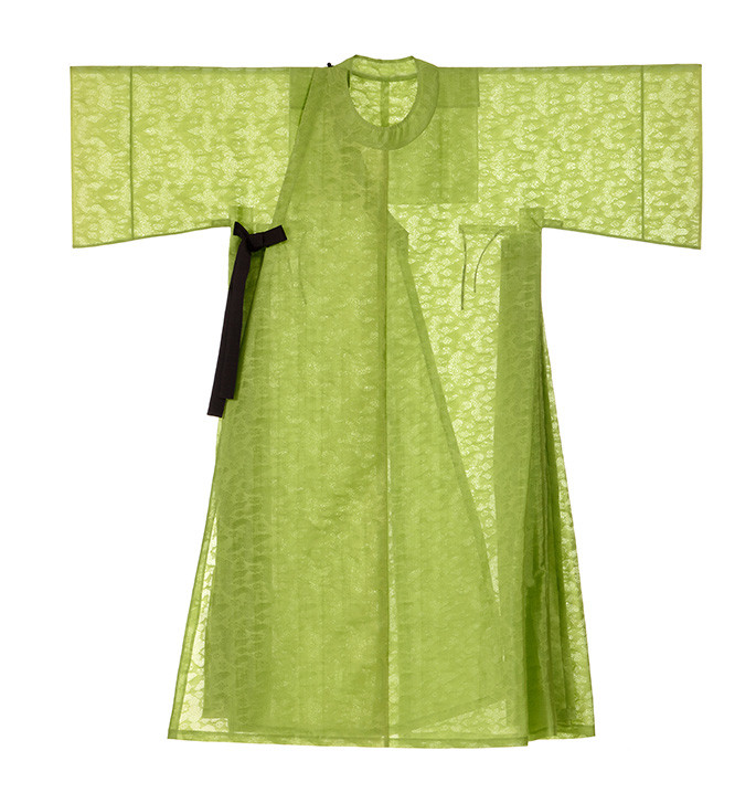 The Costume, the Pattern of Joseon Dynasty: Women's Ceremonial Robe, Green Wonsam